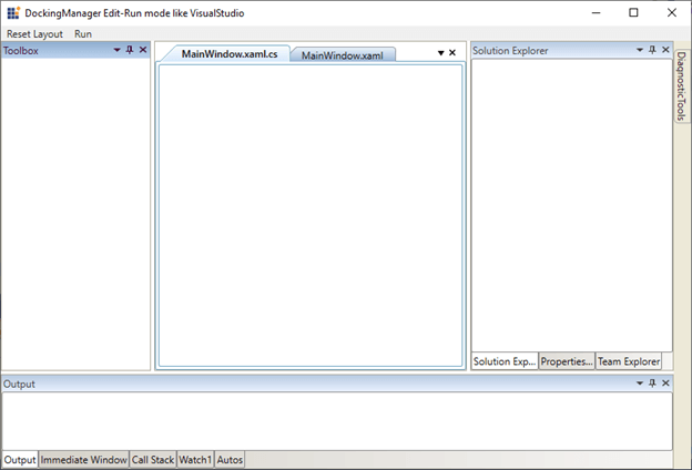 Docking Child Windows Arranged like in Visual Studio