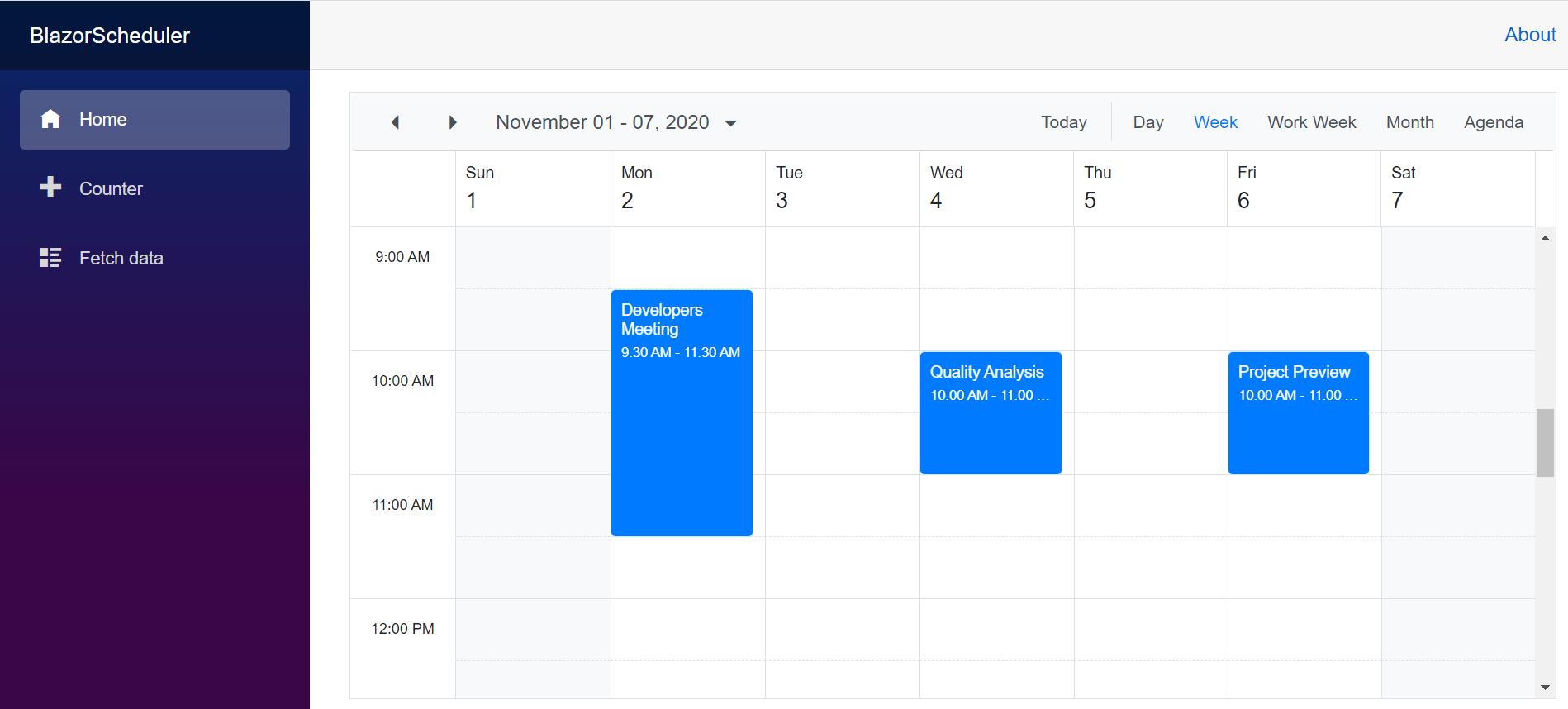 Google Calendar Synchronized with Syncfusion Blazor Scheduler