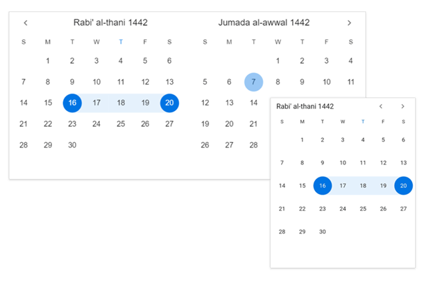 Hijri Date Range Picker in Flutter