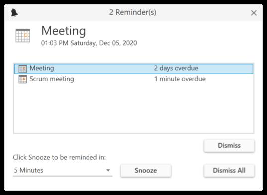 Reminders in WPF Scheduler