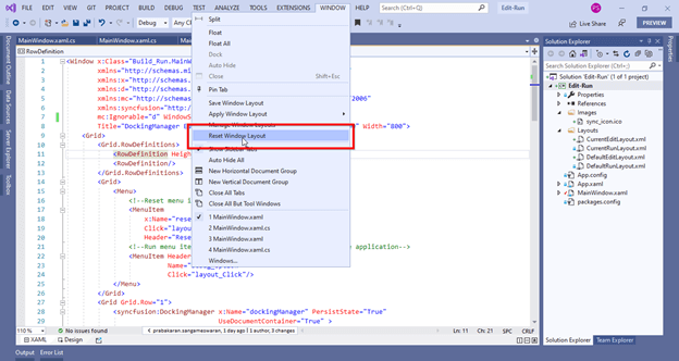 Resetting Visual Studio Layout to Default Setting