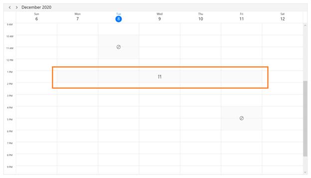 Special time region in WPF Scheduler