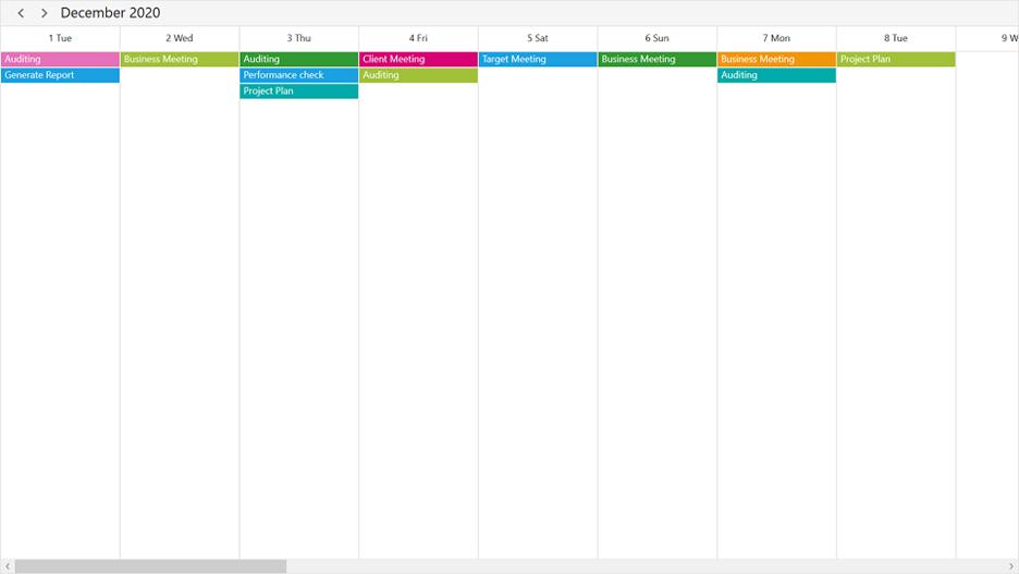 Timeline view in WPF Scheduler