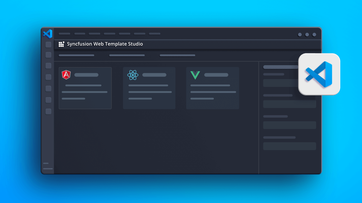 Introducing the Syncfusion Web Projects Template for Visual Studio Code
