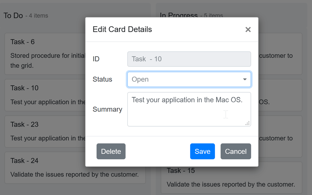 Performing CRUD Actions Using Built-in Dialog