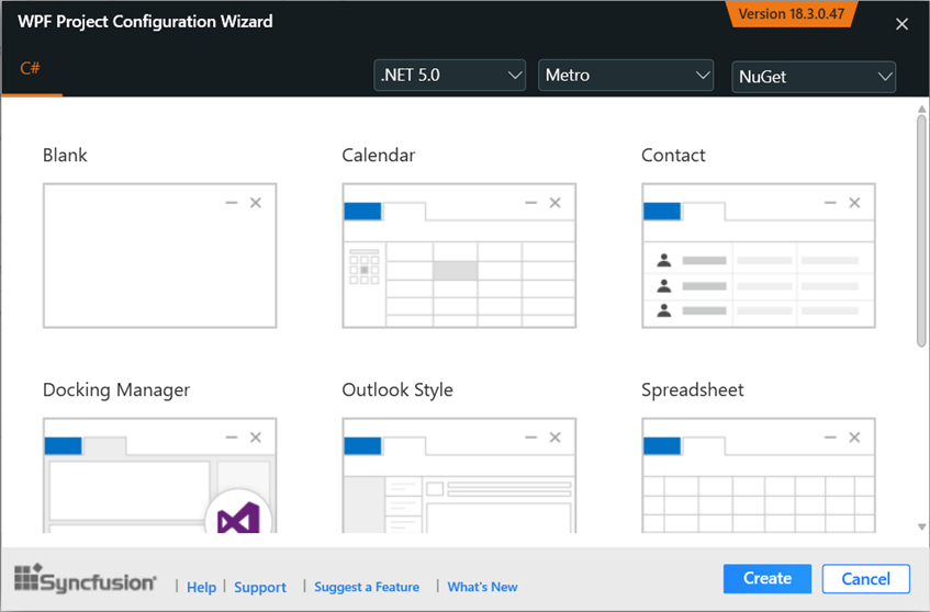 WPF Project Configuration Wizard