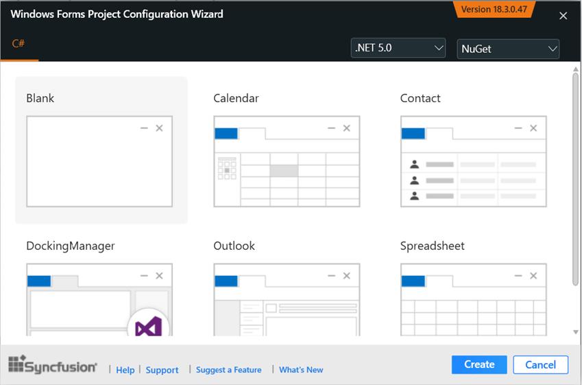 WindowsForms Project Configuration Wizard
