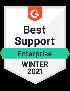 Best Support, Enterprise—Winter 2021