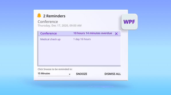 How to Display Alerts for Appointments in WPF Scheduler