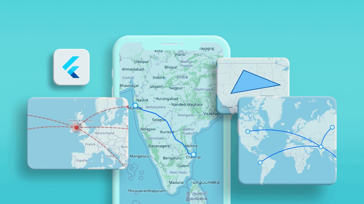 How to Display Routes and Highlight Regions in Syncfusion Flutter Maps