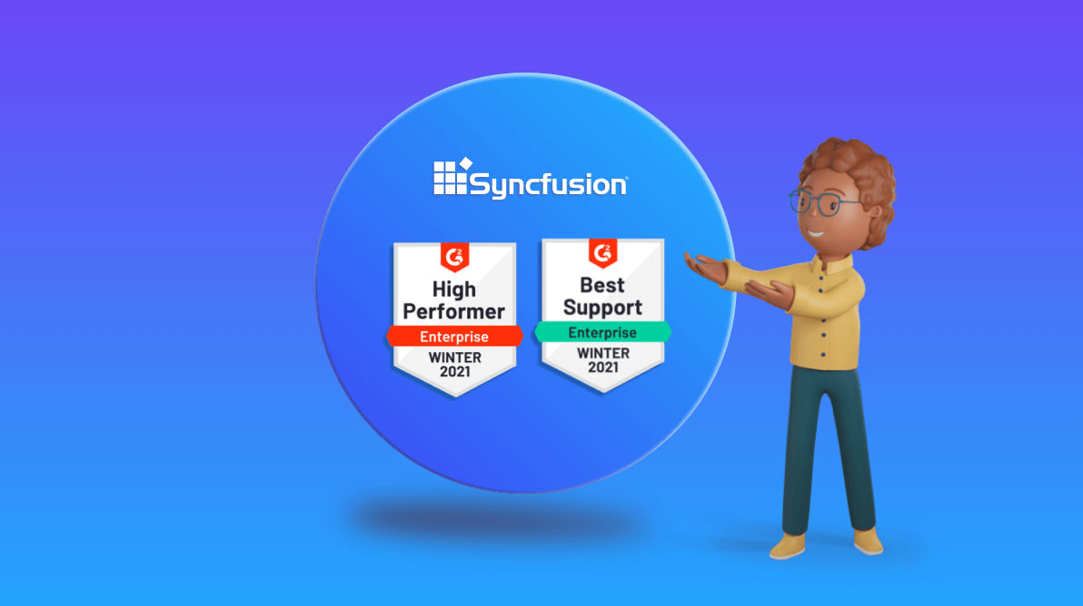 Syncfusion Receives 17 G2 Badges – Winter 2021