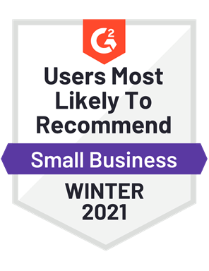Users Most Likely to Recommend, Small Business—Winter 2021