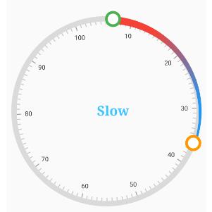 Applying gradient colors to the ranges in Radial Range Slider