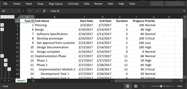 Maintaining states while exporting data in JavaScript TreeGrid
