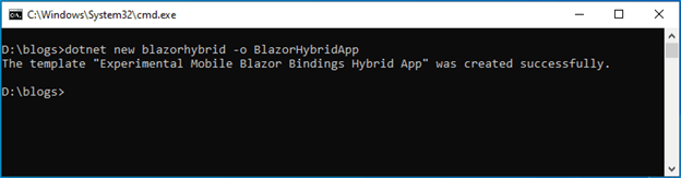 Run the command dotnet new blazorhybrid -o BlazorHybridApp to create a Blazor Hybrid app