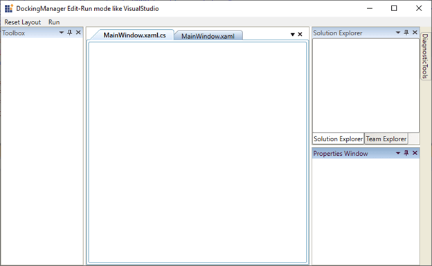 WPF Docking Control in Default Edit Mode like in Visual Studio