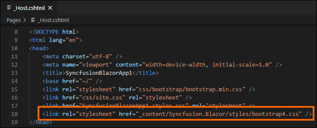 Add the theme details in the server and client apps
