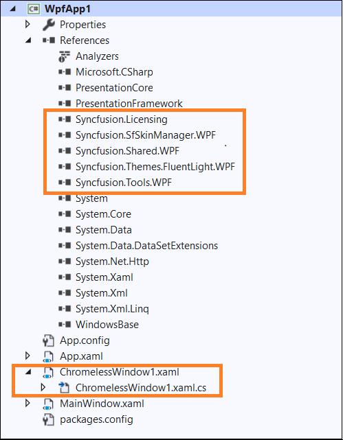 Added ChromelessWindow1.xaml window in WPF application