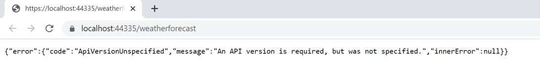ApiVersionUnspecified error