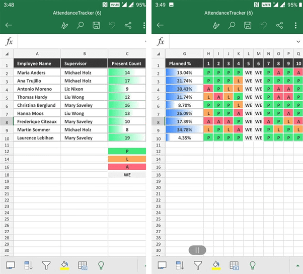 Applying conditional Formatting to an Excel worksheet in Flutter
