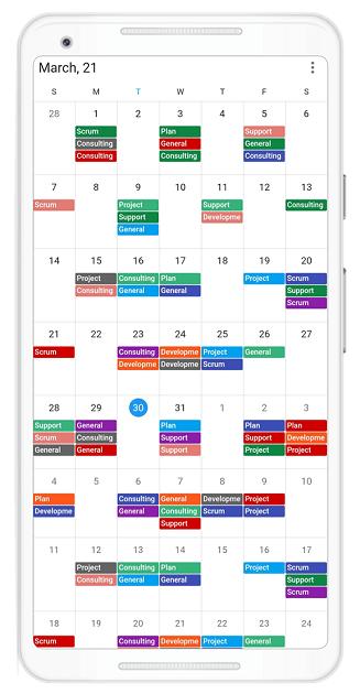 Custom header date format in Flutter event Calendar