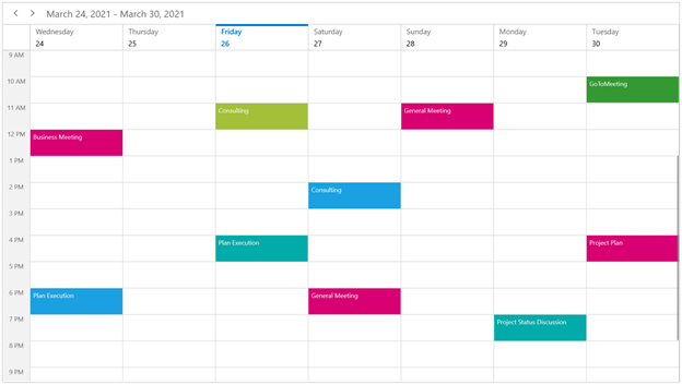 Customizing the First Day of the Week in WinUI Scheduler