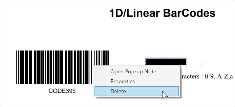 Delete Option to Remove the Redaction Mark