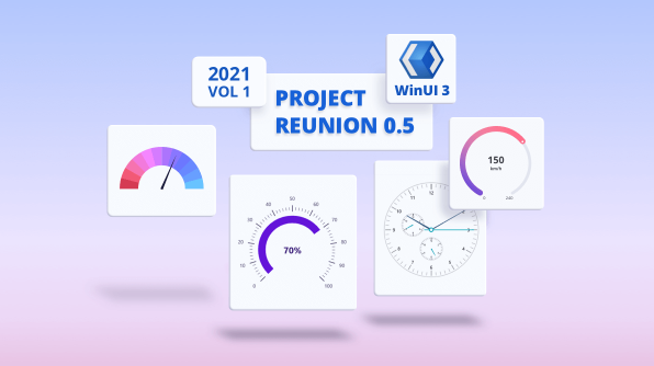 Introducing WinUI 3 - Project Reunion Radial Gauge