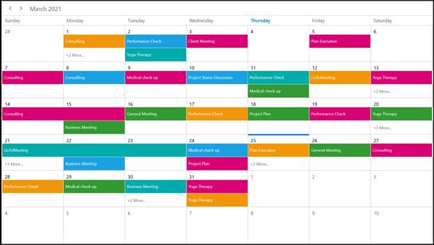 Recurring Events in WinUI Scheduler