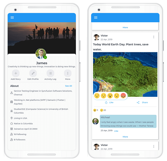 Replicating a Facebook-Like UI in Xamarin