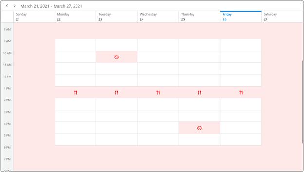 Special Time Region in WinUI Scheduler