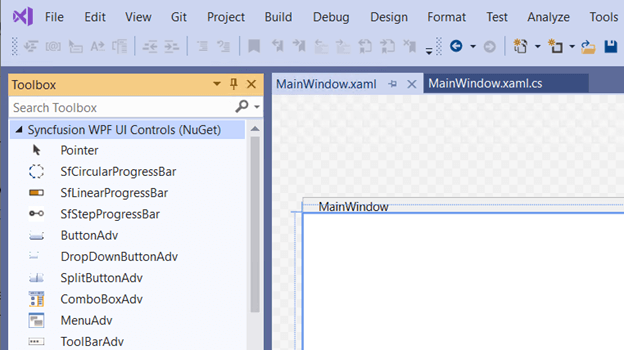 Syncfusion WPF UI controls in VS 2019 toolbox tab