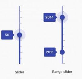 Tooltips in Flutter Vertical Slider and Range Slider