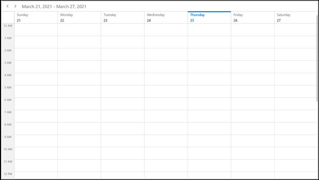 Week View Mode in WinUI Scheduler