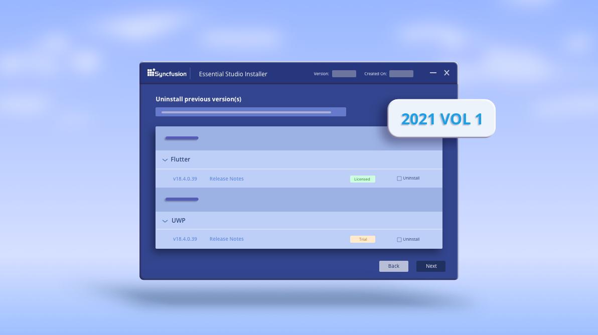 What's New in 2021 Volume 1 Essential Studio Installer