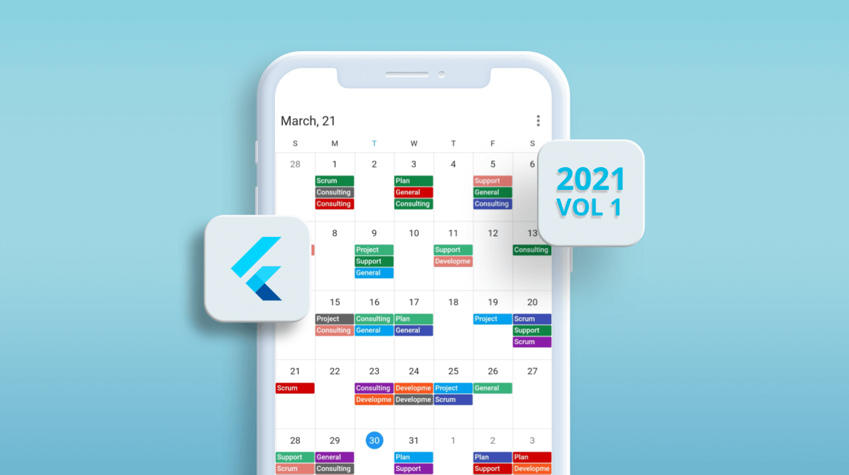 What's New in 2021 Volume 1: Flutter Event Calendar