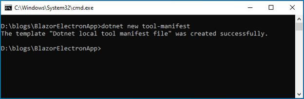 dotnet new tool manifest