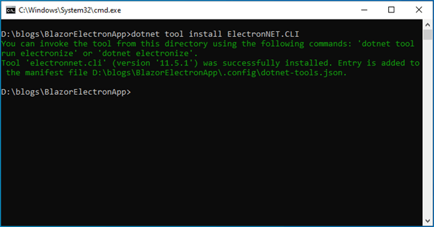 dotnet tool install ElectronNET