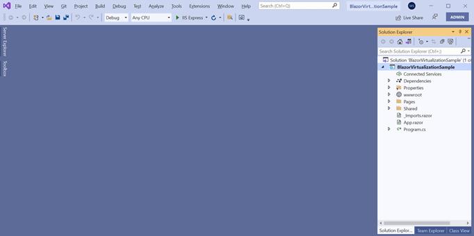 Created Blazor WebAssembly project