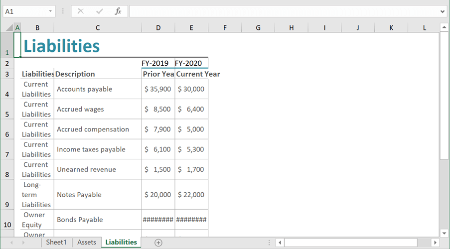 Creating Liabilities Worksheet Using Flutter Excel Library