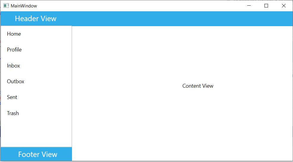 Custom View for WPF Navigation Drawer