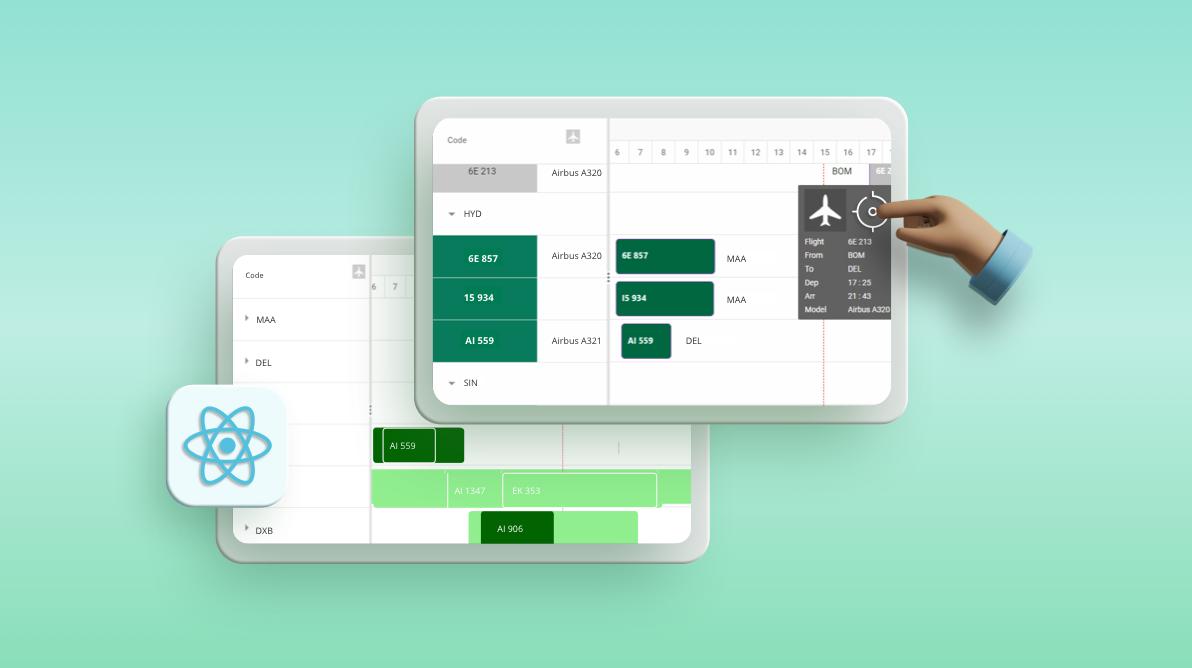 Develop a Flight Tracker Application With React Gantt Chart