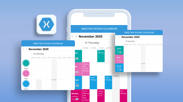 Easily Create a Meeting Room Calendar using Xamarin.Forms Scheduler