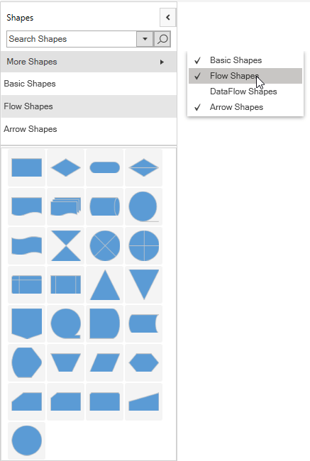 Adding a Gallery of Reusable Shapes in WPF Diagram Control