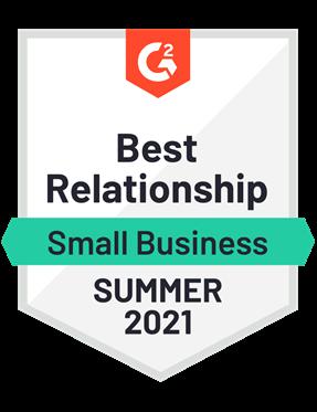 Best Relationship, Small Business- Summer 2021