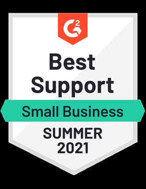 Best Support, Small Business- Summer 2021