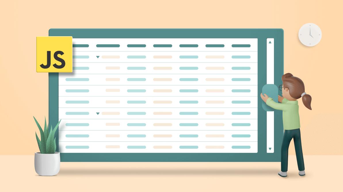 Boosting JavaScript Tree Grid Performance with Virtualization