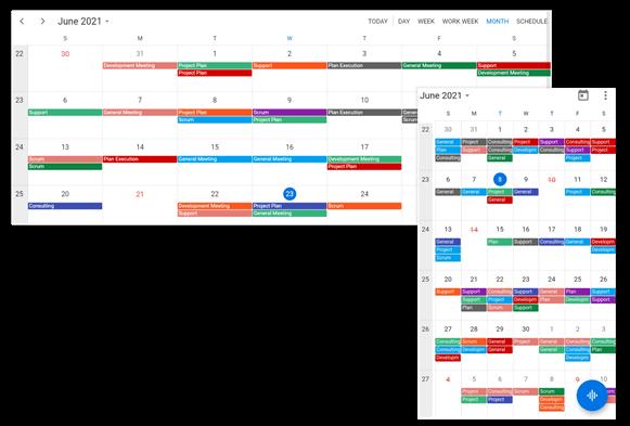 Flutter Calendar Displaying Week Numbers