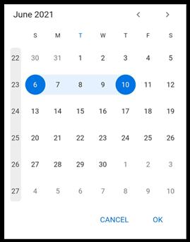Flutter Date Range Picker Displaying Week Numbers