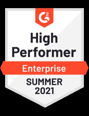 High Performer, Enterprise- Summer 2021